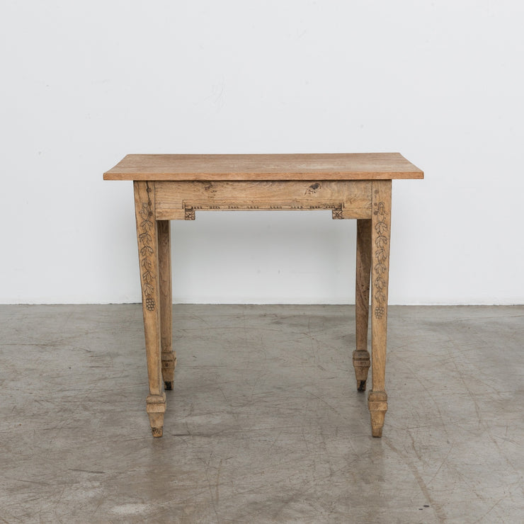 FRENCH OAK SIDE TABLE