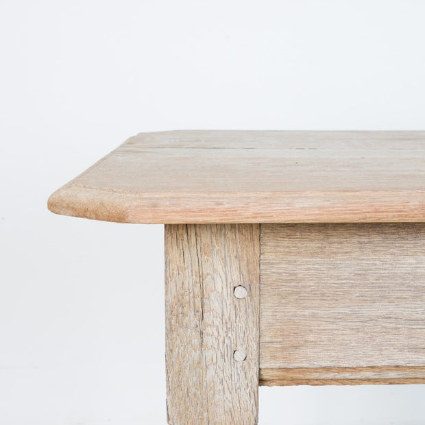 BLEACHED OAK SIDE TABLE