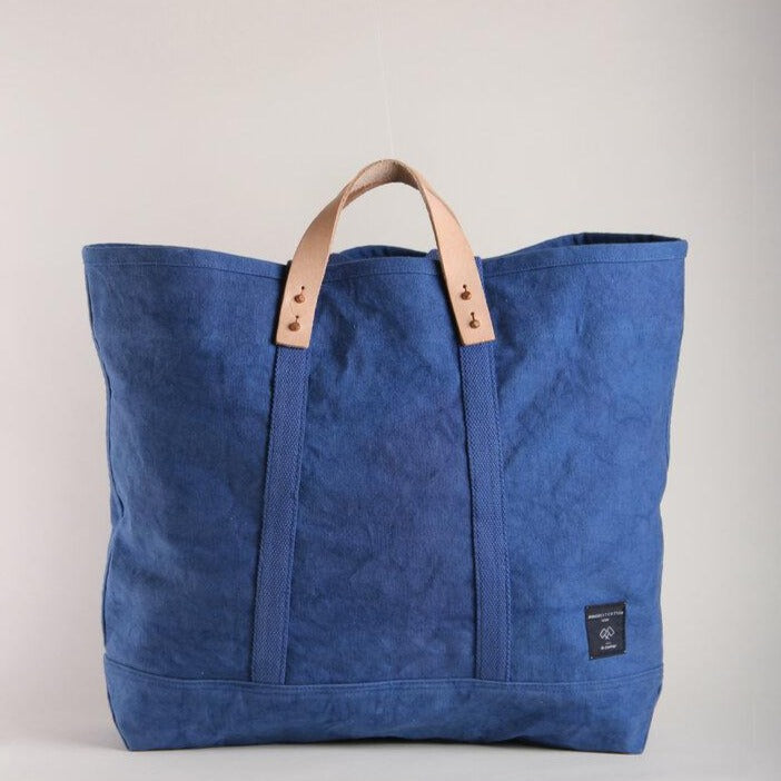 LARGE INDIGO CANVAS TOTE