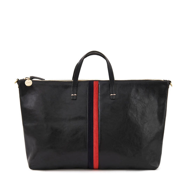 Attache Black w/Navy & Red Stripes