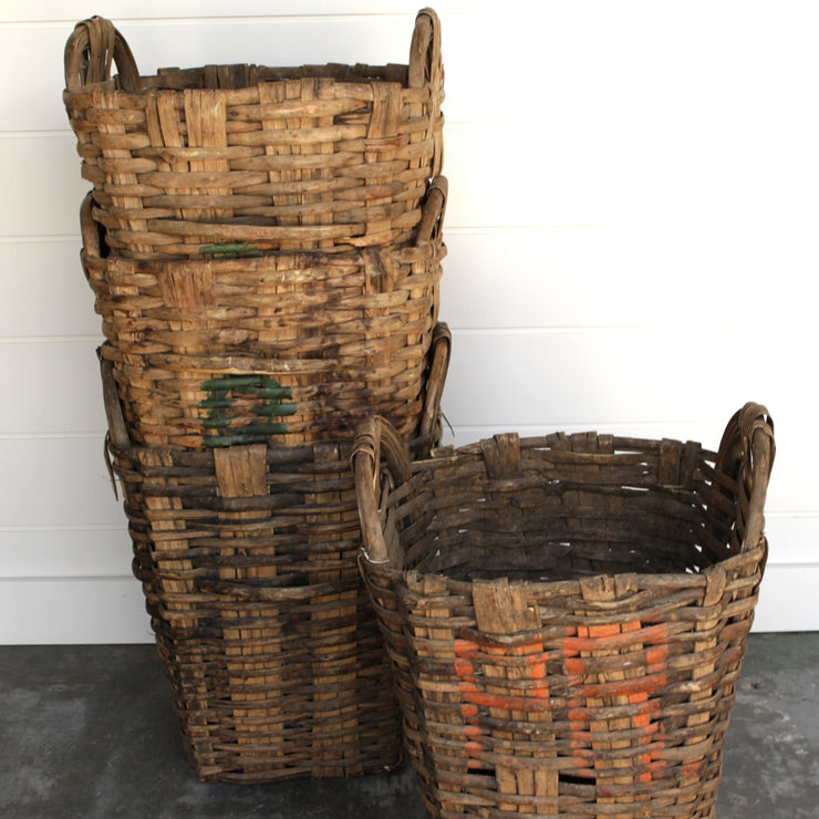 VINTAGE EUROPEAN ORCHARD BASKETS