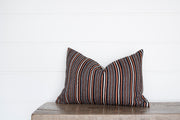 VINTAGE CORAL STRIPE OBLONG PILLOW