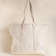 LARGE NATURAL CANVAS TOTE