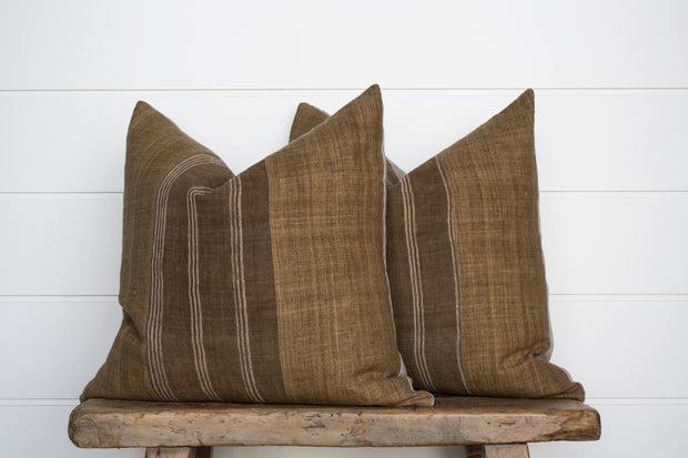 NEW! VINTAGE HEMP PILLOW PAIR