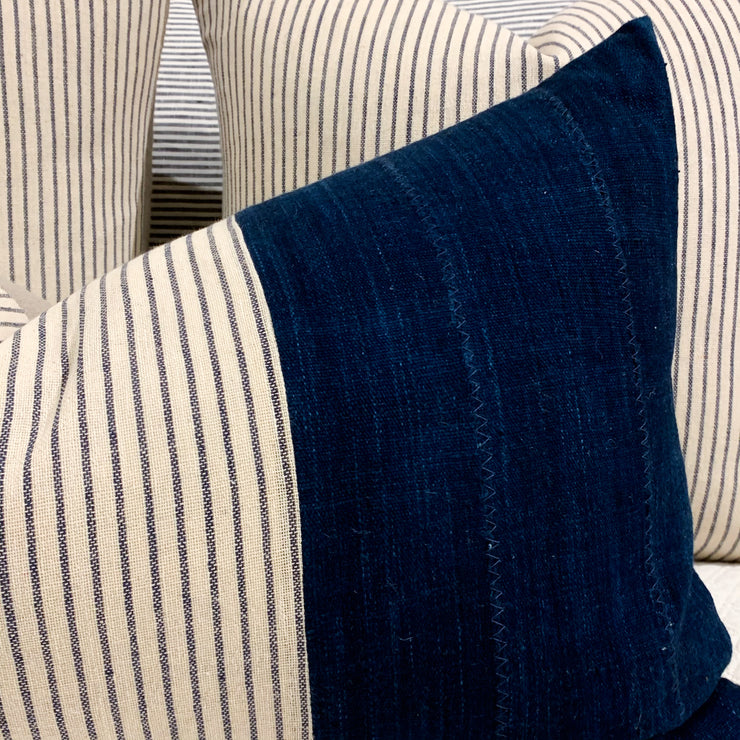 VINTAGE DENIM & TICKING STRIPE OBLONG