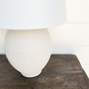 STONE FINISH TABLE LAMP PAIR