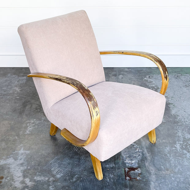 PINK-TAUPE 1940'S LOUNGE CHAIR