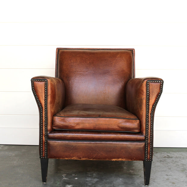 DUTCH VINTAGE LEATHER CLUB CHAIR