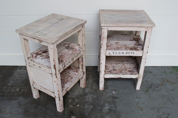 PAIR OF VINTAGE PAINTED TABLES