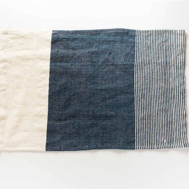 NAVY COLOR BLOCK TEA TOWEL