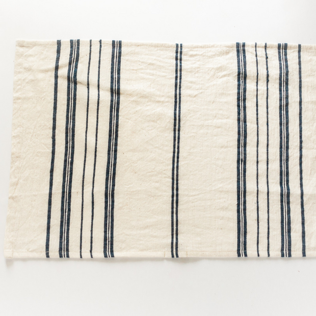 NAVY STRIPE TEA TOWEL