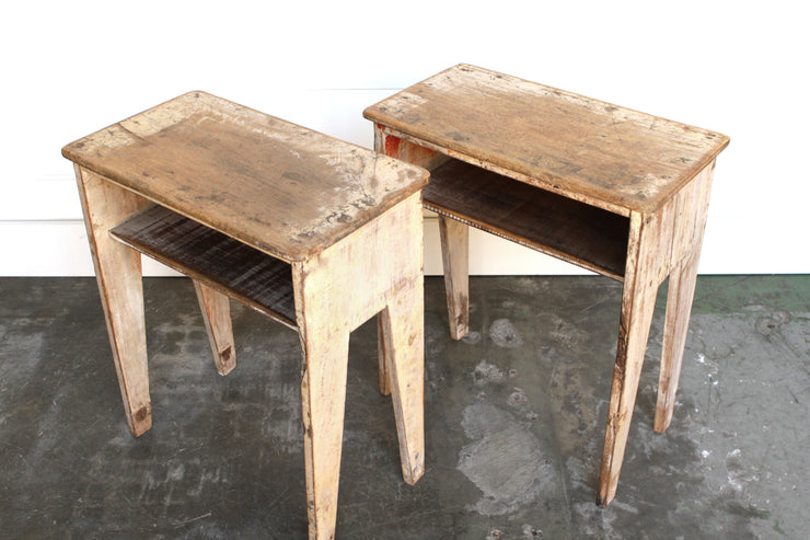 VINTAGE PAIR OF CHILD'S DESKS