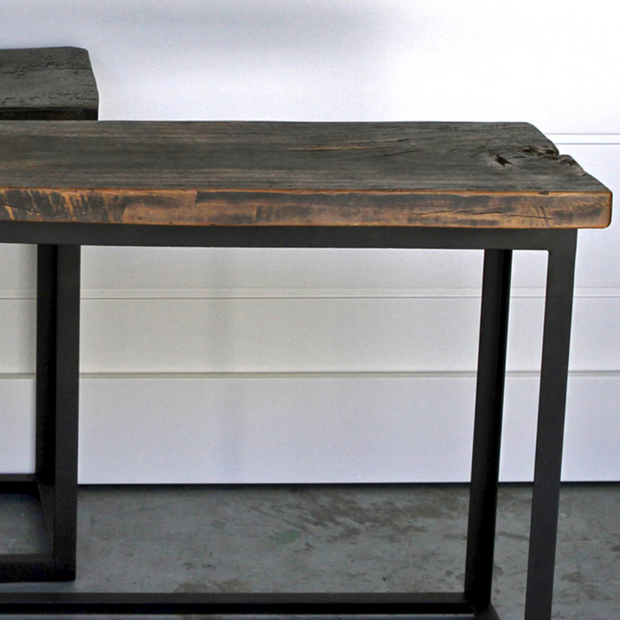 ANTIQUE PLANK SIDE TABLES