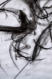 SOLD! ABSTRACT ORIGINAL CHARCOAL