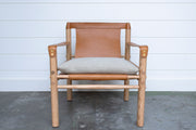 IGGY LEATHER CHAIR in TAN