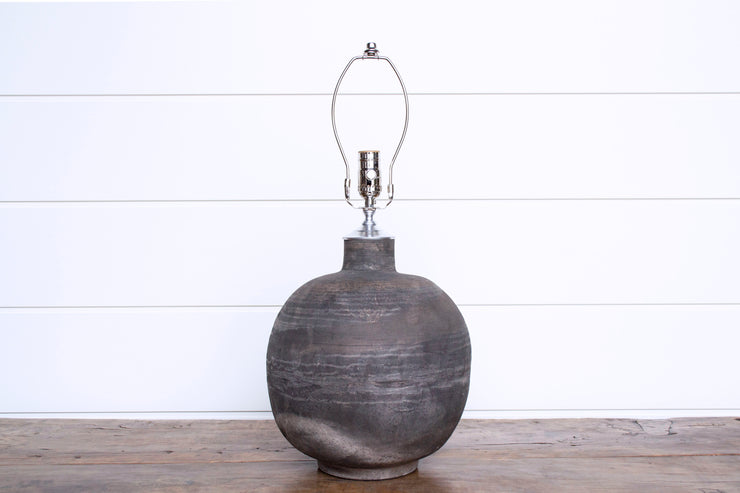 CLAY POTTERY LAMP