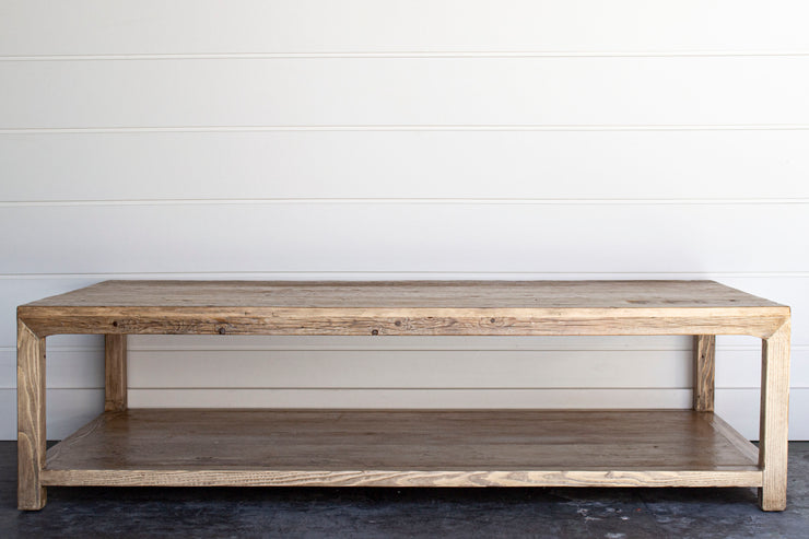 Reclaimed Wood Coffee Table Juxtaposition Home