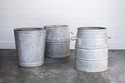 VINTAGE ZINC DOLLY TUBS