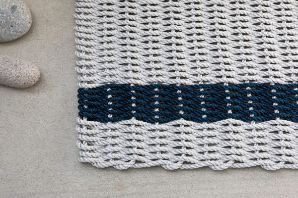 Fog and Navy Rope Doormat