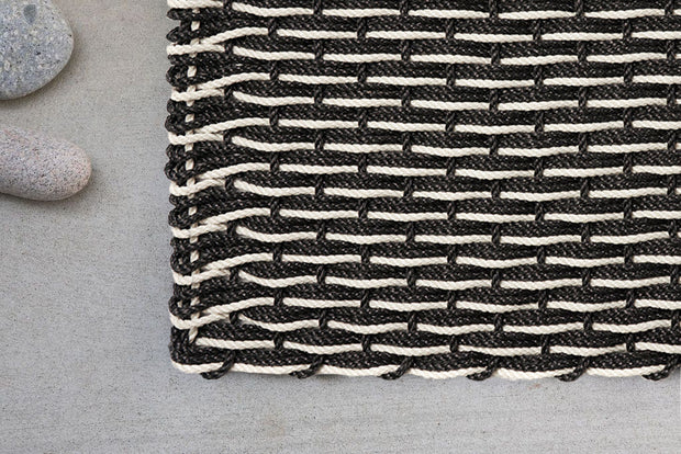 Charcoal & Oyster Stripe Doormat