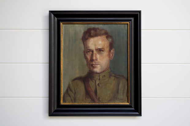1918 ANTIQUE MILITARY PORTRAIT