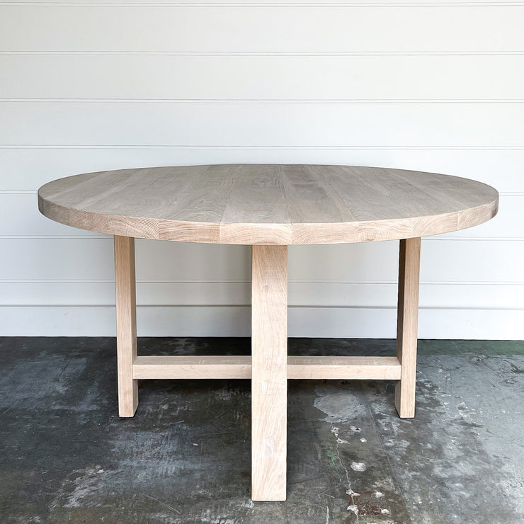 Juxtaposition Round Oak Dining Table