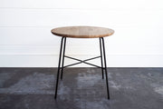 OAK & IRON SIDE TABLE