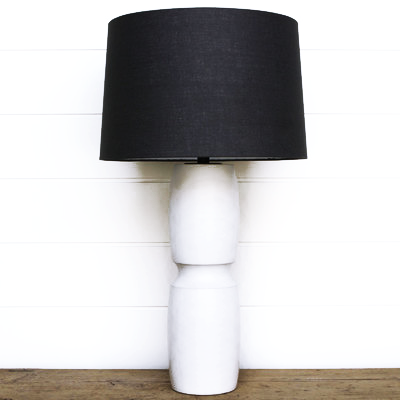 WHITE SOLID WOOD LAMP