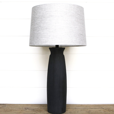 ROUND SOLID ASH LAMP