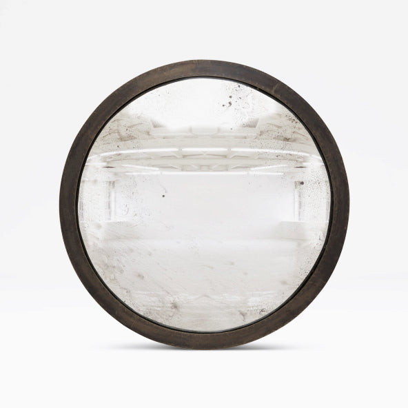 SIMPLE BRONZE CONVEX MIRROR