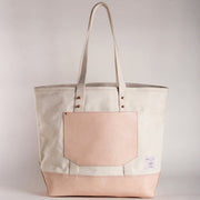 NATURAL CANVAS BUCKET TOTE