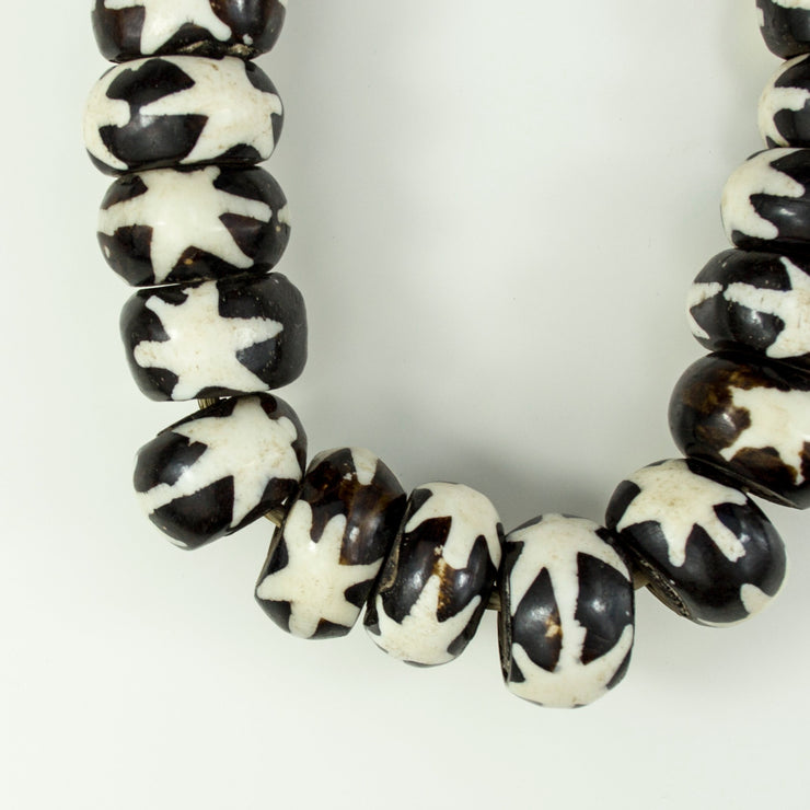 PAINTED BONE BEADS