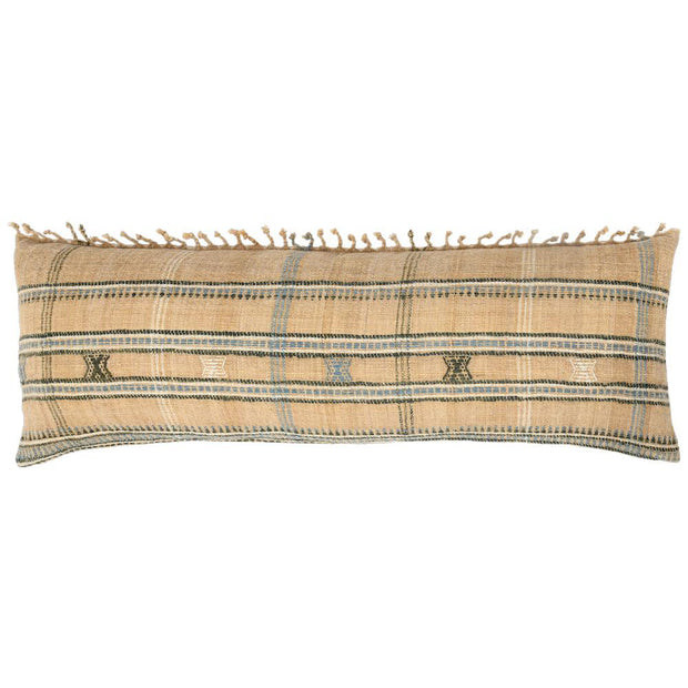 HAND LOOMED FRINGE OBLONG PILLOW