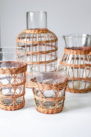 RATTAN HIGHBALL GLASS