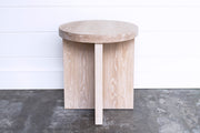 JUXTAPOSITION SMOOTH ROUND SIDE TABLE