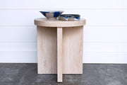 JUXTAPOSITION OAK ROUND SIDE TABLE