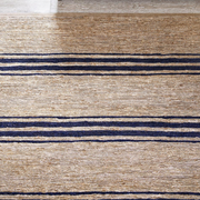 INDIGO TICKING RUG