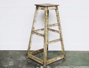 ANTIQUE TALL STOOL