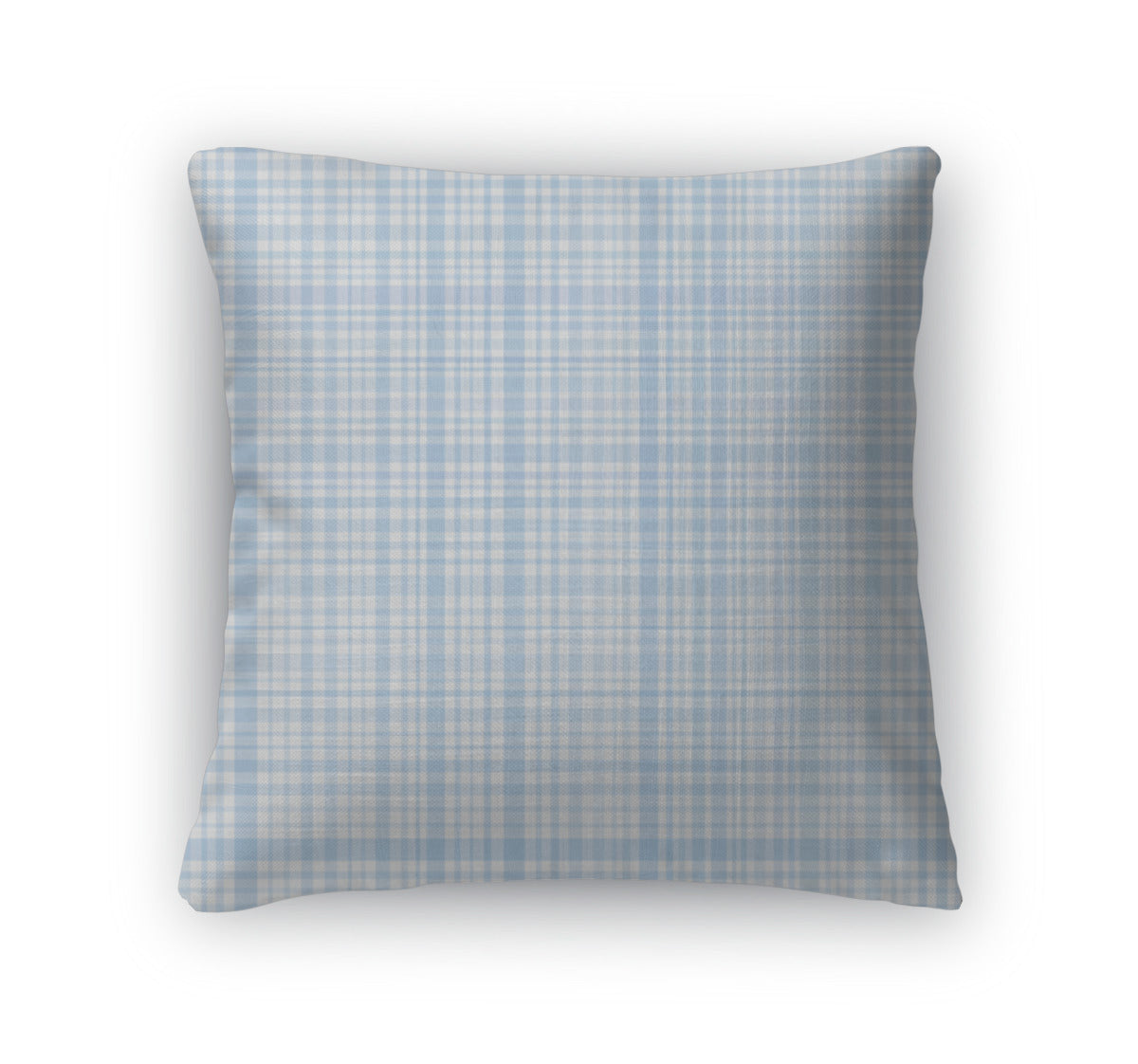 Throw Pillow, Pastel Blue Plaid
