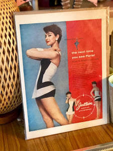 Original Mid-Century Modern Swim Suit Ad Magazine Frame-able Art