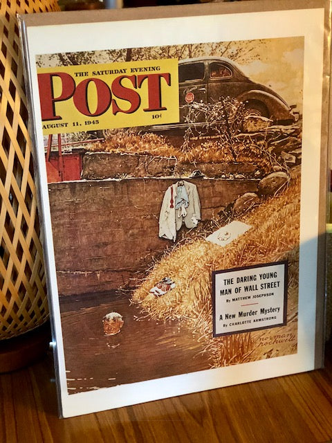 Original Magazine Art From The Saturday Evening Post August 11, 1945