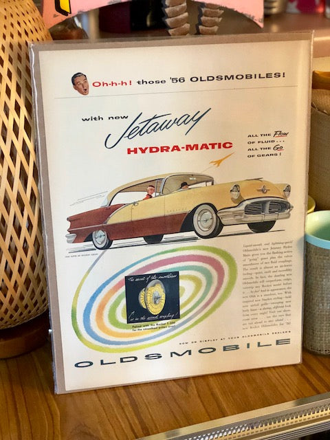Original '56 Oldsmobile Magazine Frame-able Art