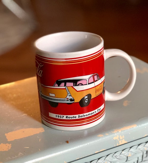 True 90's Vintage 57 Chevy Coca-Cola Coffee Mug!