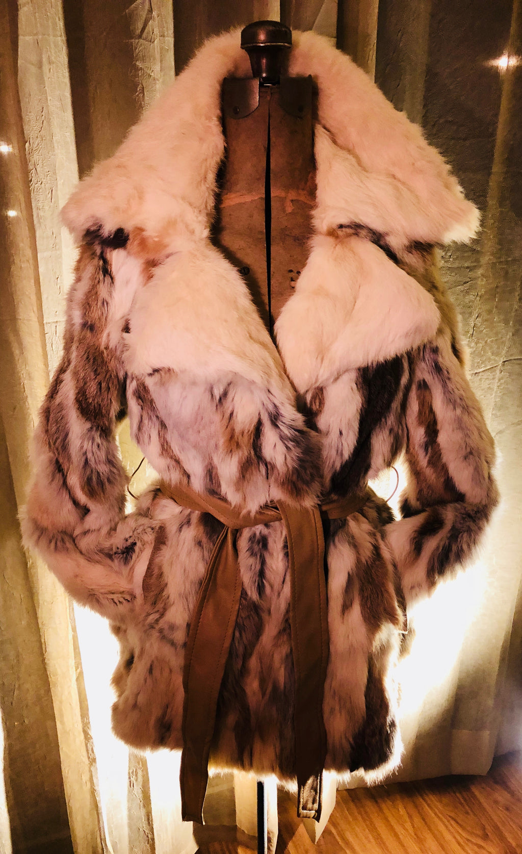 True Vintage 70's Era Fur Couture Fur Coat