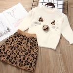 Girl's Sweater Skirt Set