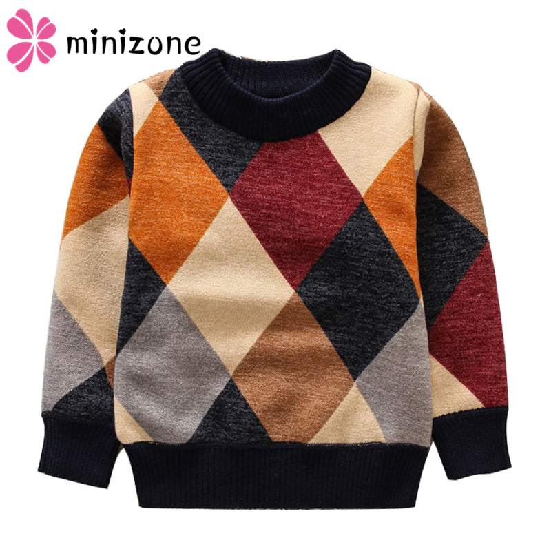 Boy's Retro Knitted Cardigan Sweater