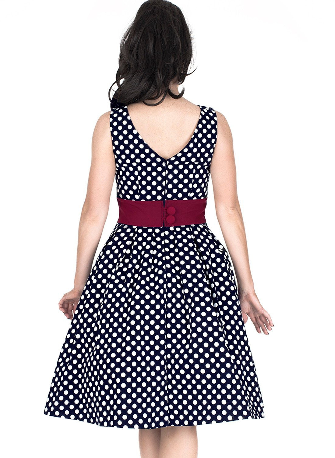 Vintage Polka Dot 1950'S Party Dress