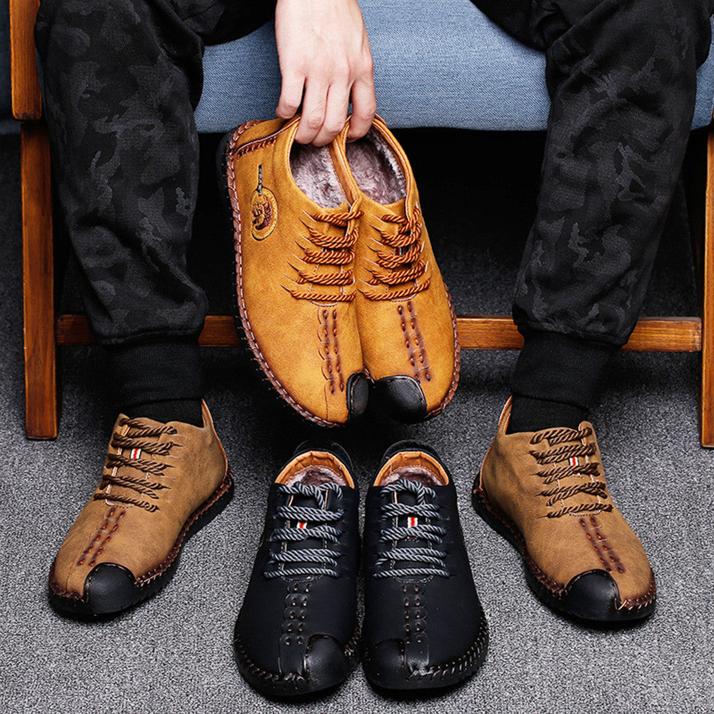 Men's Retro High Top Leather Shoes