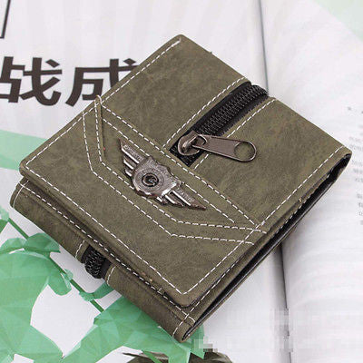 Vintage Inspired Canvas Zip Wallet