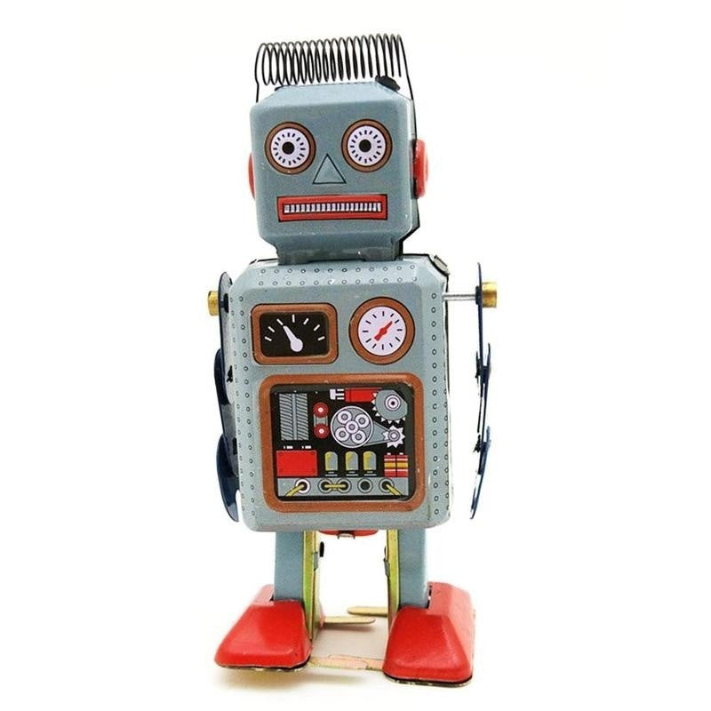 Retro Inspired Robot Wind Up Tin Toy